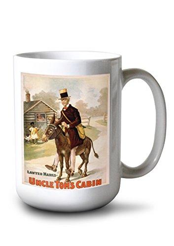 (Lantern Press Uncle Tom's Cabin Man and Donkey Theatre Poster (15oz White Ceramic Mug))