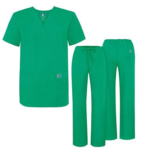 Adar Universal Medical Scrubs Set Medical Uniforms - Unisex Fit - 701 - SMT -L