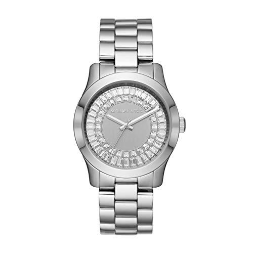 Bracelet Stainless Steel Baguette - Michael Kors Women's Runway Baguette Stainless Steel Watch MK6531