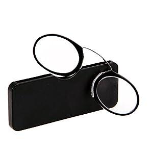 Doober Unisex Nose Resting Reading Glasses Presbyopic Eyeglasses Full Frame +1.0 To +3.5 (Black, 1.5)