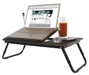 Beat Collection Tablet - Mesa para portátil, 35 x 60 x 27 cm, color marrón