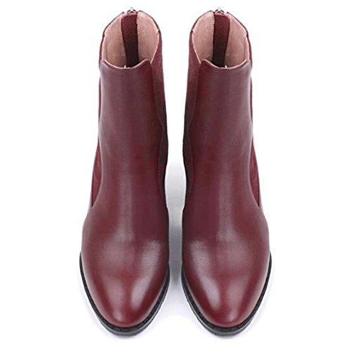 Femmina Negli stivali con RED inverno Ruvido Martin donna singoli stivali tacco Red 39 e Scarponi alto Da con 35 Autunno Scarpe Stivali xaTXpOqOw