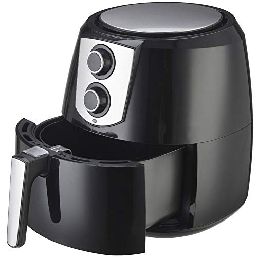 Nattork Air Fryer Hot Air Fryer 5.5 QT Oil-Free 1800 Watts Electric Air Fryer Cooker with airfryer cookbooks For Fast &Healthier Oil Free Cooking (5.5QTBlack)