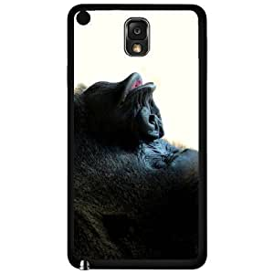 Gorilla Animal Kiss Rubber Silicone TPU Cell Phone Case (Samsung Galaxy Note III 3 N9002)