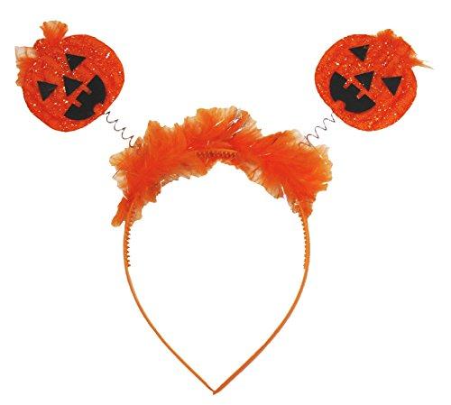Petitebella Orange Double Pumpkin Headband Free Size Unisex Costume -
