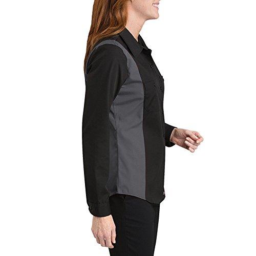 Dickies - - FL524 Frauen Langarm-Hemd Industrie Color Block, Large, Black