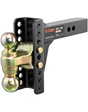 CURT 45900 Adjustable Trailer Hitch Ball Mount, 2-Inch Receiver, 6-Inch Drop, 2 and 2-5/16-Inch Balls, 14,000 lbs , Black