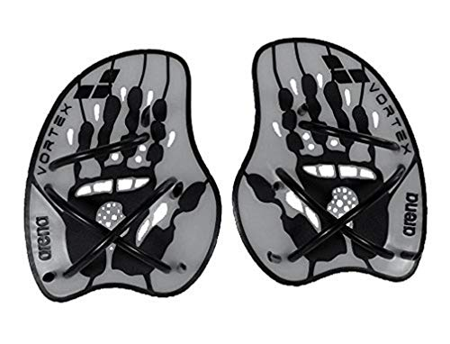 Arena Vortex Evolution Palas de Mano para Natación, Unisex, Plata (Silver/Black), M