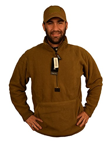 Polartec Fleece Pullover, Coyote Brown, USMC Issue, Made in USA ()