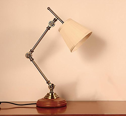 ZXFGTD Home Table lamp Refreshing Table Desk Lamp Solid Wood Bedroom Study Desk Lamp Living Room Bedroom American Country Table Lamp Home Decoration