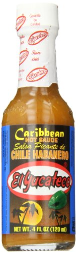 - El Yucateco Caribbean Habanero Salsa, 4 ounce, (Pack of 12)