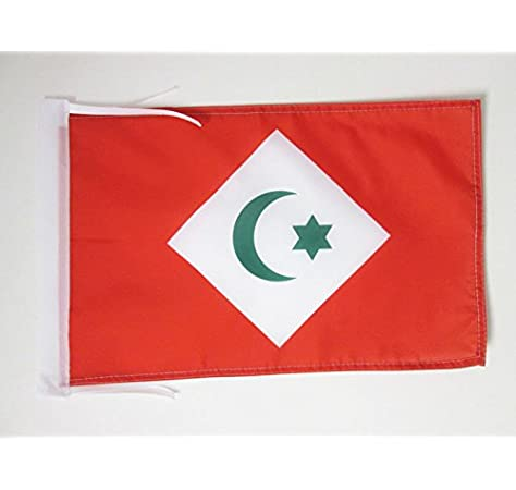 AZ FLAG Bandera del RIF EN Marruecos 45x30cm - BANDERINA del Riff 30 x 45 cm cordeles: Amazon.es: Hogar