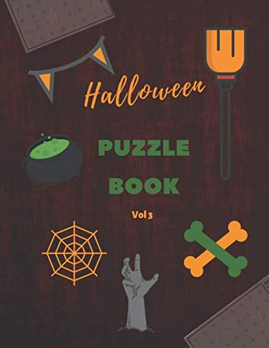 Halloween Puzzle Book - Vol 3: Halloween themed words and Horror Thriller movie names in word search puzzles
