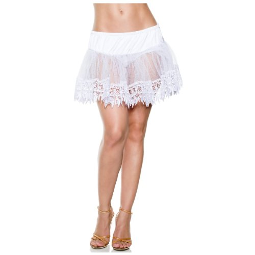 Teardrop Petticoat White (Seven Til Midnight Women's Tear Drop Petti, White, One)