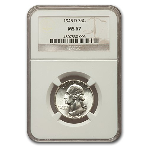 1945 D Washington Quarter MS-67 NGC Quarter MS-67 NGC
