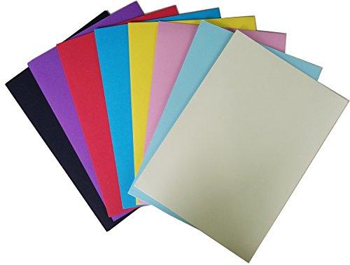 "Maxleaf Astrobrights Colored Cardstock/Railroad Board/Bristol Color Board11.7"" x 8.3""(297mmx210mm), 83 lb/225 gsm, 8-Color Assortment, 50 - Bristol Size Board"