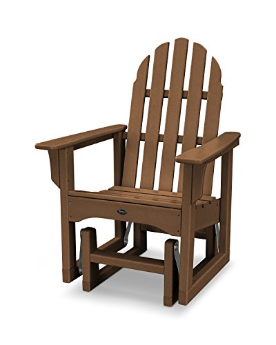 Trex Outdoor Furniture Cape Cod Adirondack Glider Chair in Tree House