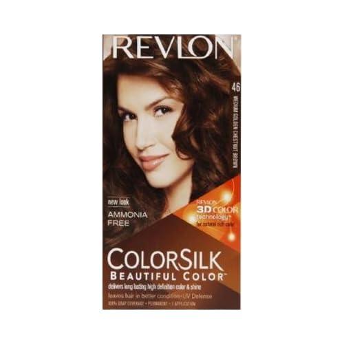 Revlon Colorsilk Haircolor, Medium Golden Chestnut Brown, 1-count (Pack of 6)