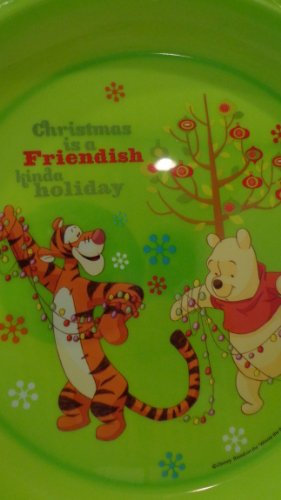 Disney Winnie Pooh Collectible Plate (Winnie the Pooh Christmas Plate Christmas is a Friendish Kinda Holiday Plate Winnie the Pooh Christmas Plate)