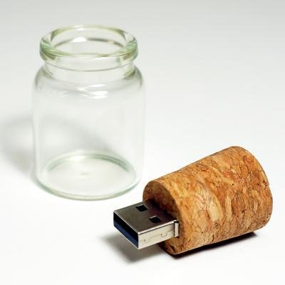 Message In A Bottle Cork Stopper 4GB High Speeed USB 2.0 Flashdrive
