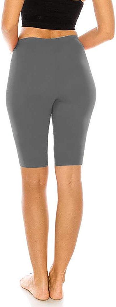 Turchese Donna Cotone Corto Leggings 1//2 lunghezza CONFORTEVOLE SPORT PALESTRA FITNESS