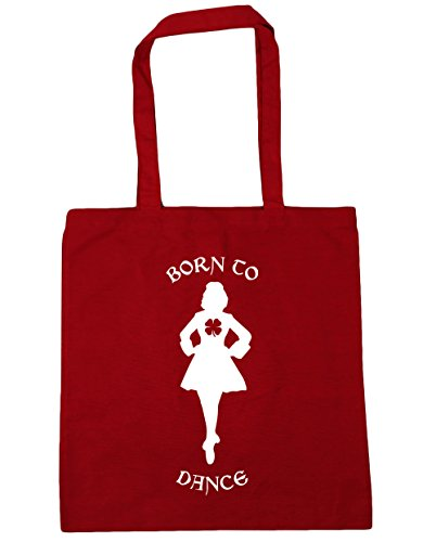 Shopping Classic HippoWarehouse x38cm 10 Red 42cm Beach Irish Tote Gym Born to litres Bag Dance fOrXfA