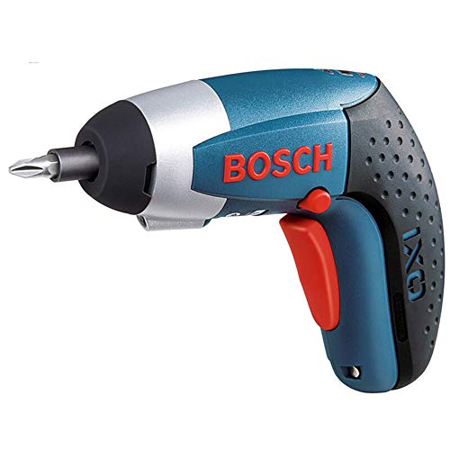 Weite Mini Portable Cordless Rechargeable Screwdriver with 10 Pieces Drill Bits - Powerful Bosch IXO 3 3.6-Volt 2000mAh Li-ion Professional Screw Power Gun Tool (Blue)