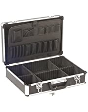 Perel 1819-1 koffer van aluminium, 455 x 330 x 152 mm, zwart