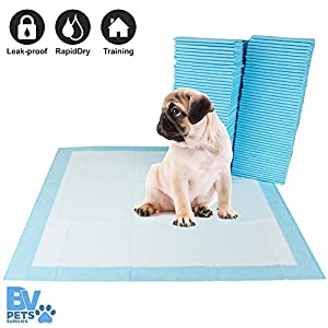 BV Pet Potty Training Pee Pads for Dog and Puppy, RapidDry Technology 22″ x 22″, 100-Count