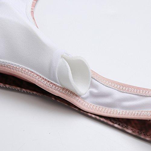 della costume di a da il delle spingere due del cinghia seta bagno bagno sexy del da bikini pezzi costume Chicolife Floral donne Fasciatura 85APa
