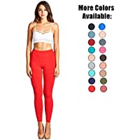 TK Clothing  TK ropa mujeres tamaño de Junior – Solid largo longitud Leggings