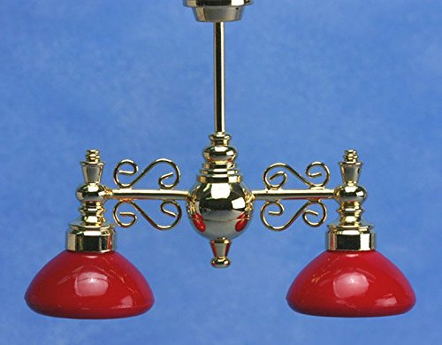 Dollhouse Miniature Red Billiard Lights by Miniature House (Image #1)