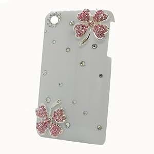 Semoss - Carcasa para Apple iPhone 3G 3GS, diseño flores con cristales