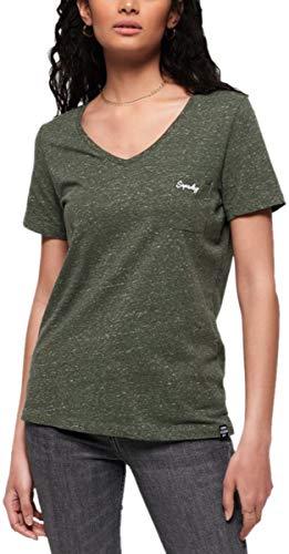 Camiseta Superdry Mujer Para Washed Khaki TxYqdwg
