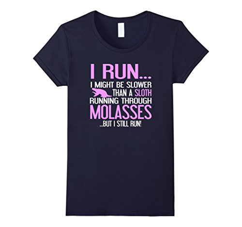 Womens Sloth Running Shirt - I Run Slower Than a Sloth in...