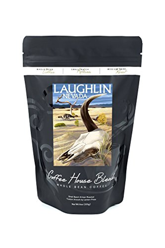 Cow Skull - Laughlin, Nevada (8oz Whole Bean Small Batch Artisan Coffee - Bold & Strong Medium Dark Roast w/ - Images Nevada Laughlin Of