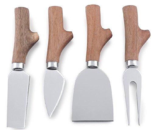 Swissmar SK1013AC 4Pc 4 Pc Acacia Handle Cheese Knife Set, Brown (Swissmar Knives)
