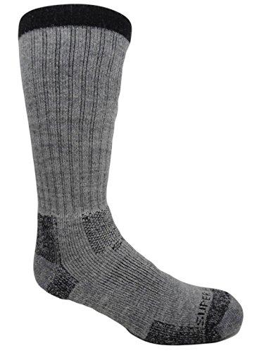 Mid Thermal Sock - Merino Wool Thermal Hiking Socks (2 Pairs) (Medium (Women's 5-9/Men's 4-8), Mid Grey)