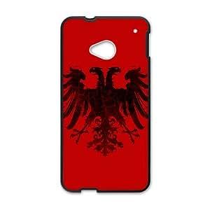 HTC One M7 Cell Phone Case Black Roman Empire Eagle (Black) whpu