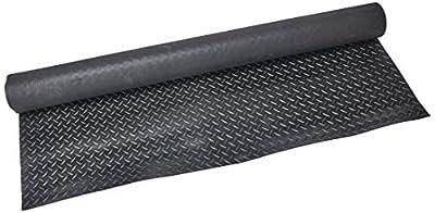"""Rubber-Cal """"Diamond Plate Rubber Flooring Rolls, 3mm x 4ft Wide Rolls"""