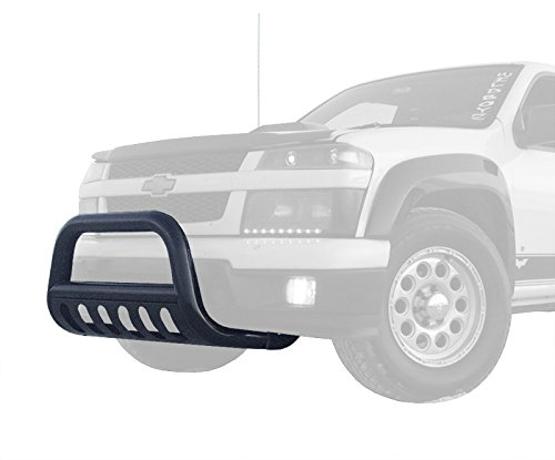 Tyger Black Bull Bar Bumper Brush Guard with Skid Plate with Skid Plate Fits 04-12 Chevy Colorado; 04-12 Gmc Canyon