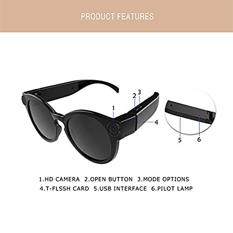 ad389fceef833 Buy Leoie K11 Camera Sunglasses 1080p WiFi Mini Micro Cameras  Polarized-Lenses HD Sports Video Recorder Camcorder Online at Low Price in  India