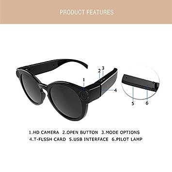 Gafas de Sol con la cámara K11 1080p WiFi Mini cámaras Micro Cámaras de Video HD