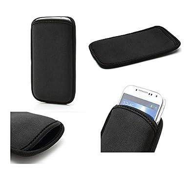 Neoprene Waterproof Slim Carry Bag Soft Pouch Case Cover for Motorola Moto G Power 2020 - Black DFV mobile
