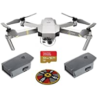 DJI Mavic Pro Platinum with Remote Controller - Bundle With Spare Battery , 64GB MicroSDXC Card, ExpoImaging 32 FlatHat Collapsible Pad