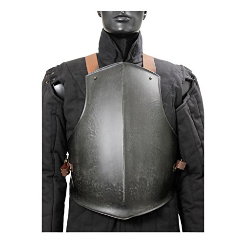 - Armor Venue Medieval Ready for Battle Breast Plate Body Armour Dark Metal Finish Large