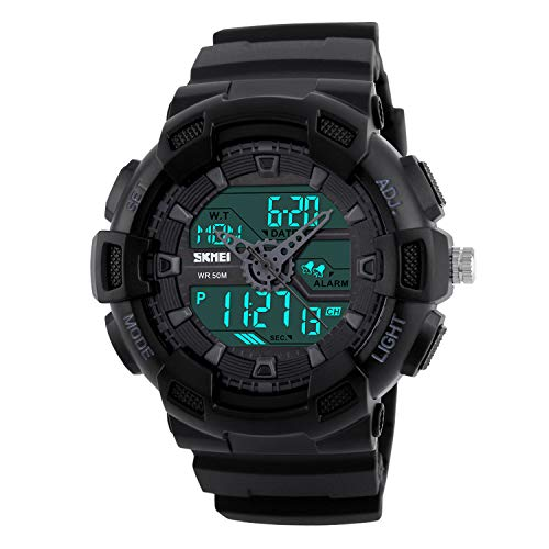 - Misskt Mens Military Sport Watch Fashion Men Watch LED Display Water Resistant Black