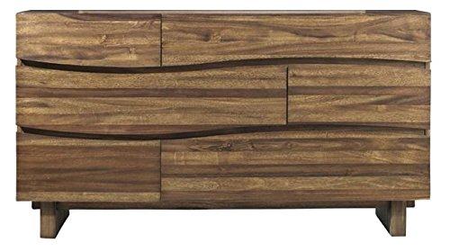 Modus Furniture 8C7982 Ocean Six-Drawer Solid Wood Dresser, Natural Sengon