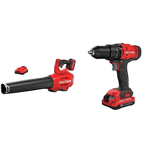 CRAFTSMAN CMCBL720D2 V20 Handheld Blower with CMCD700C1 V20 Cordless Drill/Driver Kit