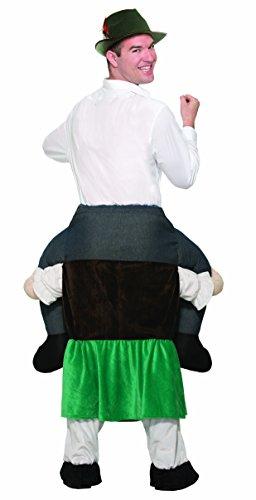 Forum Novelties Men's Beer Maiden Ride-on Deluxe Costume, Black -